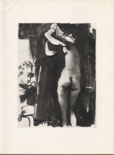 PABLO PICASSO - 28.11.53 - woman erotic * HELIOGRAVURE from VERVE 1954 suite