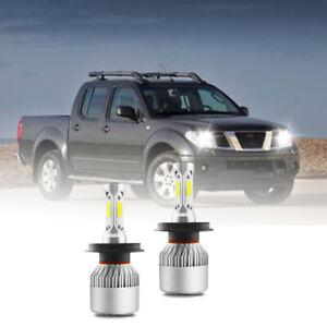For Nissan Navara D22 D40 100W H4 High&Low Beam LED Headlight 6000K White Bulbs