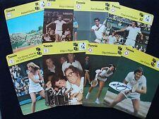"TENNIS SPORTSCASTER COLLECTORS CARDS 1977/79  (6 ¼"" x 4 ¾"") Ref 196/TWENTY-FIVE"