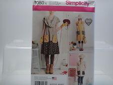 Simplicity 1080, Dottie Angel Smock Apron Boho Pattern US Sz XS-XL Sz 6-24