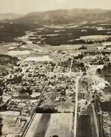Postcard, 1950 Aerial View Enderby B.C. Canada Vintage P32