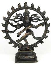 "Bronze Dancing Shiva Statue Hindu God Antique Finish 6"" for Altar Table Desk Top"