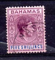Bahamas KGVI 1938 5/- SG#156E fine used WS14474