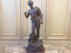 Hippolyte F. Moreau scultura in bronzo firmata bellissima scultura autentica