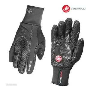 NEW Castelli ESTREMO Insulated Thermal Winter Cycling Gloves : BLACK
