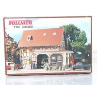 MINT VOLLMER 3682 HO OO KIT - PETROL STATION AND GARAGE WORKSHOP 158×120×120 mm