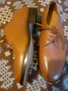 Clifford James Mens Shoes UK 6 Lace-Up Hand Made Tan Leather Brogues VGC!