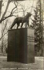 Bennington VT Catamount Monument Leopard? C1915 Real Photo Postcard dcn