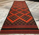 Hand Knotted Vintage Afghan Maimana Surpuri Kilim Kilm Wool Area Runner 15 x 4