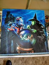 """Westland Giftware Canvas Wall Art Wicked Witch In Castle 12"""" x 12"""""""