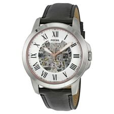 **NEW** MENS FOSSIL GRANT AUTOMATIC SKELETON LEATHER WATCH- ME3101 - RRP £219