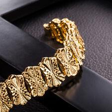 Luxury Fashion Women Gold Plated Crystal Cuff Bangle Rhinestone Bracelet Chain