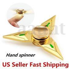 Hand Spinner EDC Shuriken Metal Bearing Tri Fidget Finger Toy Focus ADHD Autism
