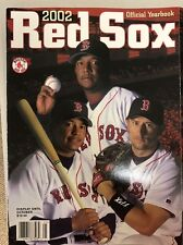 2002 RED SOX OFFICIAL YEARBOOK, UNUSED 'NEW' CONDITION, NOMAR PEDRO MANNY COVER