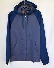 NWT HAWK Navy/Gray full zipper Hoodie sweatshirt Men's Sz S Small
