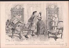 COMÉDIE FRANCAISE JEAN RICHEPIN MONSIEUR SCAPIN 1886 GRAVURE ANTIQUE PRINT