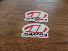 2 NEW ATV MX STICKER DECAL MAXIMA RACING OILS  HONDA TRX 250R 450R LTR 450 YFZ
