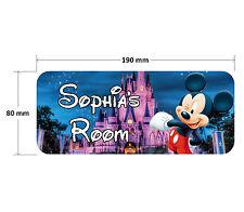 Mickey Mouse Door Plaque - Disney Personalised Childrens Bedroom Sign Boys Girls