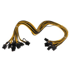 8Pcs PCI-E 6Pin to 6+2Pin Cables 27.5Inch Length(70CM) Male to Male for GPU