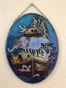 Joan Baker Hand Painted Noah's Ark Suncatcher