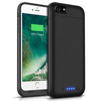 For iPhone 7 Battery Case 4500mAh Ultra Slim Extended Batery Backup Black