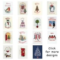 Derwentwater Designs ~ Cross Stitch Christmas Card Kits ~ Oval ~ Over 50 Designs