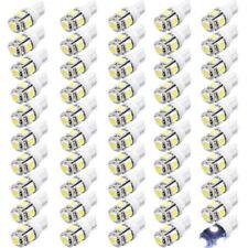 50x T10 LED 5SMD 5050 194 168 LED Car Light Bulb Lamp Wedge Tail Side 12V White