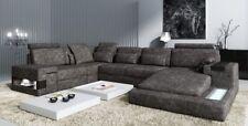Ecksofa Ledersofa Sofa Couch Polster Garnitur  Form XXL Big Sofas Wohnlandschaft
