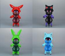 Red Chi-Chi, Green Nei, Blue Nenne & Black Nenne Baketan Kaiju Sofubi Japan New