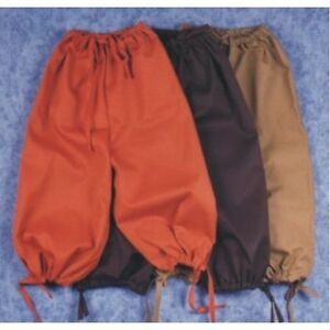 ADULT MALE COLONIAL RENAISSANCE PIRATE KNICKERS PANTS VICTORIAN COSTUME BREECHES