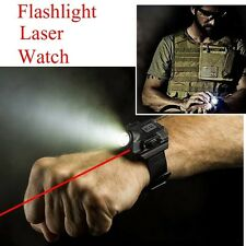 Flashlight Light USB Charging Rechargeable Army Wrist Watch Flashlight Torch