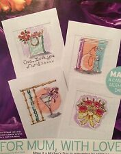 4 X Mothers Day Cards Cross Stitch Chart