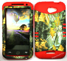 KoolKase Hybrid Silicone Cover Case for HTC One X S720e - Camo Mossy 04