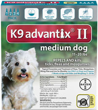 Bayer K9 Advantix 4 Pack For Dogs 11 - 20 lb