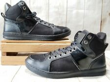GUESS GM Trippy 5 High Top Athletic Sneakers Black/Black Men Size 9 M