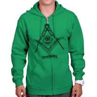 Illuminati Eye of Providence Sacred Compass Zipper Sweat Shirt Zip Sweatshirt