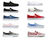 Vans CLASSIC SLIP-ON BlackOnBlack/BlackWhite Canvas Shoes All Size Fast Shipping