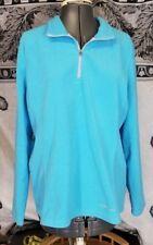 EDDIE BAUER Women's Size XL, Blue Fleece Zip Pullover, Polyester