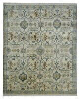 """Hand Knotted Oushak Ivory Wool Tribal New Oriental Rug Carpet 8'1"""" x 10'"""