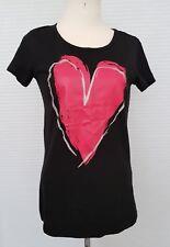 Crash One * Herz T-Shirt Schwarz Rot Silber Größe 170/176