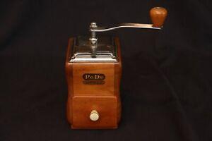 Vintage German PeDe Mokka Dienes Wood Case MCM Coffee Grinder Mill