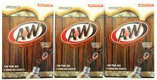 A & W Root Beer ~ 6 Sticks ~ Sugar Free ~ Drink Mix ~ Lot of 3