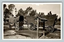 RPPC Buena Park CA, Knotts Berry Farm, Wagons, Real Photo California, Postcard