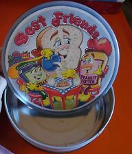 "Vintage Tin Metal Container PBJ ""Best Friends"" Peanut Butter Jelly Colorful Fun"
