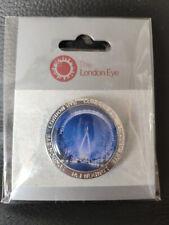 THE LONDON EYE Pin Badge Merlin BRAND NEW - EYE NIGHT PHOTO BACKGROUND