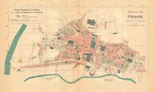 ORENSE OURENSE. Plano antiguo cuidad. Antique town/city plan. MARTIN c1911 map