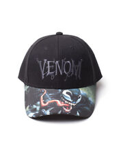 OFFICIAL MARVEL COMICS - VENOM LOGO BASEBALL CAP WITH PRINTED VISOR (BRAND NEW)