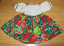 "16"" CPK Cabbage Patch Kids LONG CHRISTMAS DRESS W/ ANGEL+ORNAMENTS +TRIM"