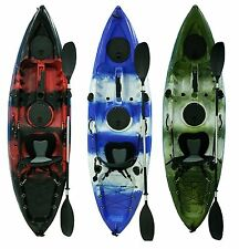 Fishing Kayaks - 3 colors to choose  Full package with paddle, seat, rods holder