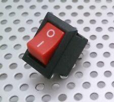 Interruptor Unipolar Empotrable Basculante Pequeño - 3A - 250V - Rojo